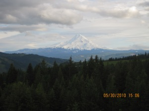 View of Mt. Hood from the B&B we stayed at