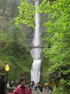 The famous Multnomah Falls