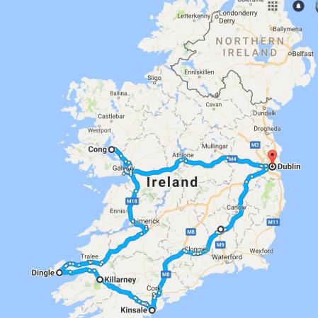 Irelandroadtripmap